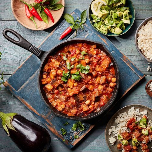 Brazilian Aubergine and Chickpea Stew