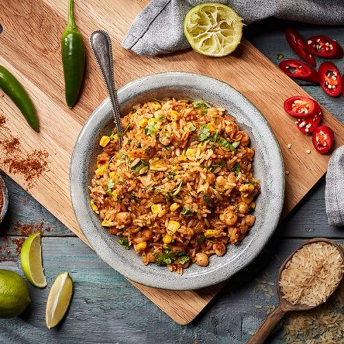 Capsicana Recipes - Chick Pea & Sweetcorn Rice