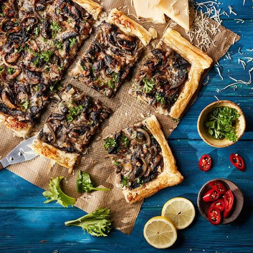 Capsicana Recipes - Mushroom Tart with Chilli & Lemon Cook Sauce