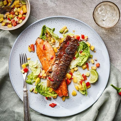 Capsicana Recipes - Trout, Avocado and Mango Salad