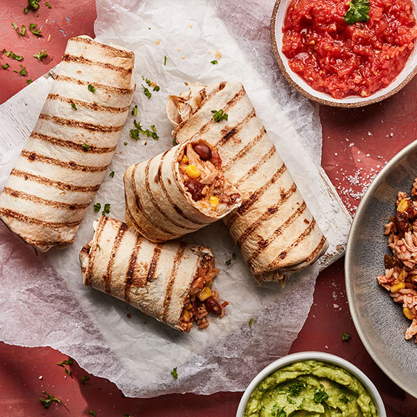 Capsicana - Easy Refried Bean Burrito