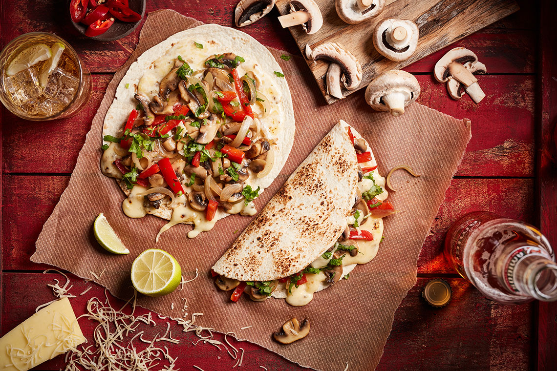 Capsicana Recipes - Mushroom Quesadillas