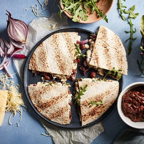 Capsicana Recipes - Refried Pinto Bean Quesadilla