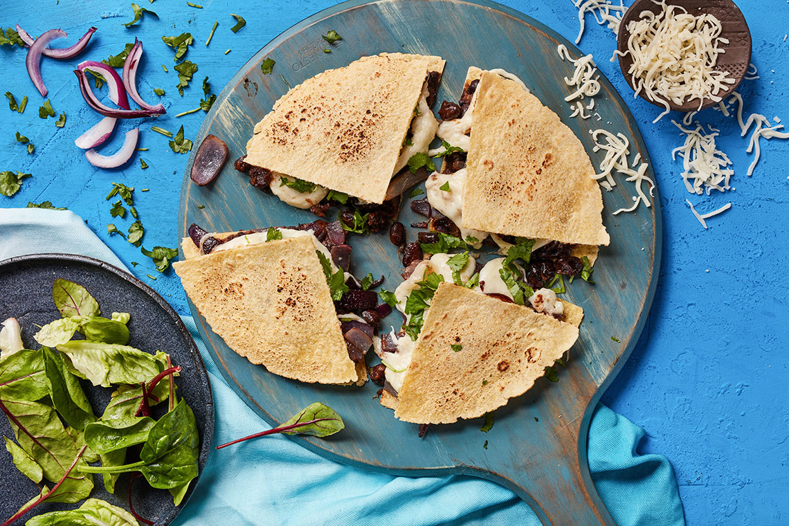 Capsicana Recipes - Black Bean Quesadilla