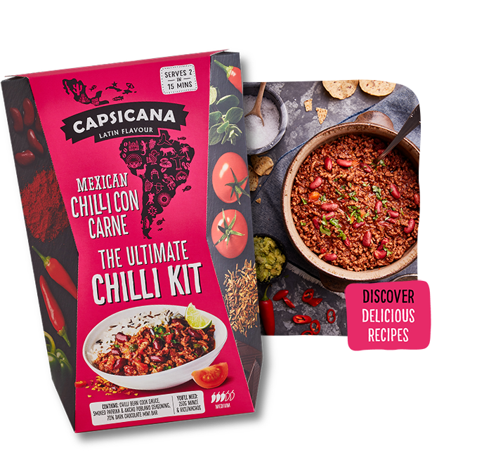 Capsicana - Mexican Chilli Con Carne Chilli Meal Kit