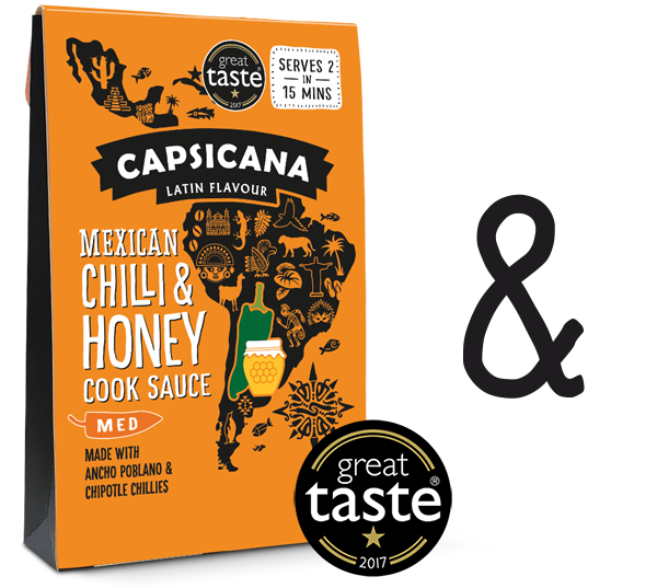 Capsicana - Mexican Chilli & Honey Latin American Cook Sauce