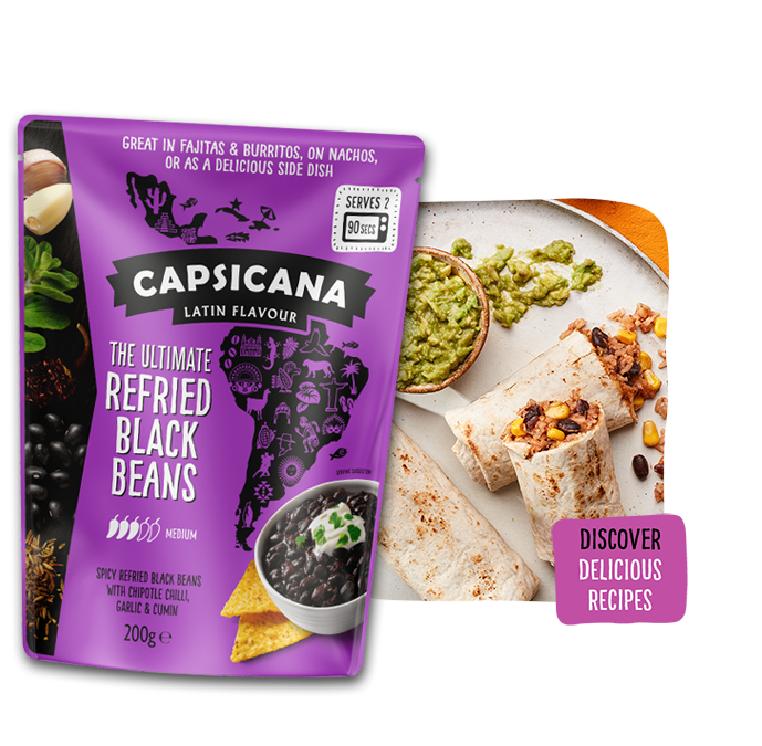 Capsicana Ultimate Refried Black Beans
