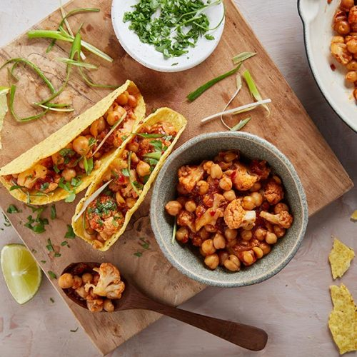 Capsicana Recipes - Chickpea & Cauliflower Tinga Tacos