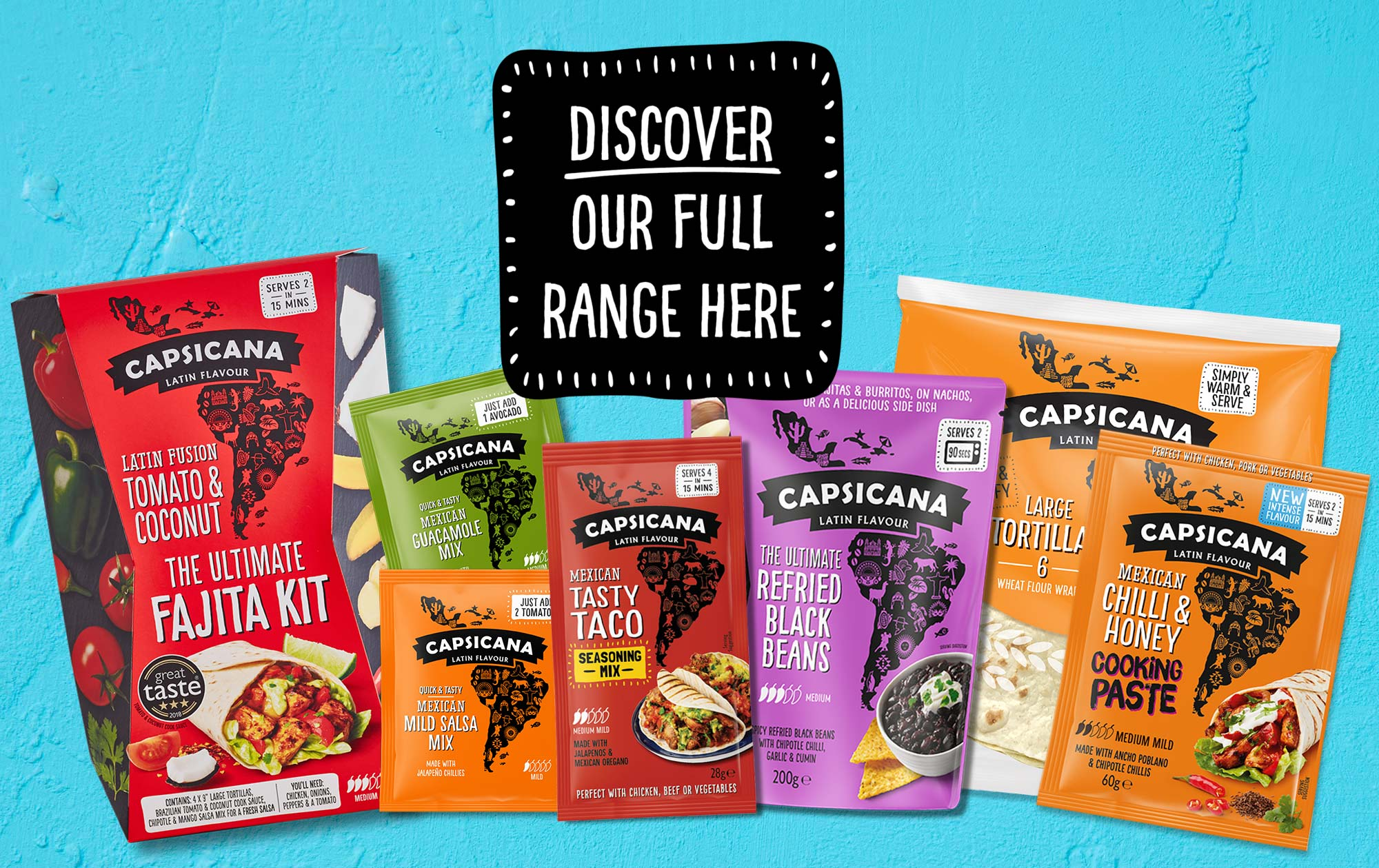 Capsicana Latin American Cook Sauces, Side Dishes & Seasonings